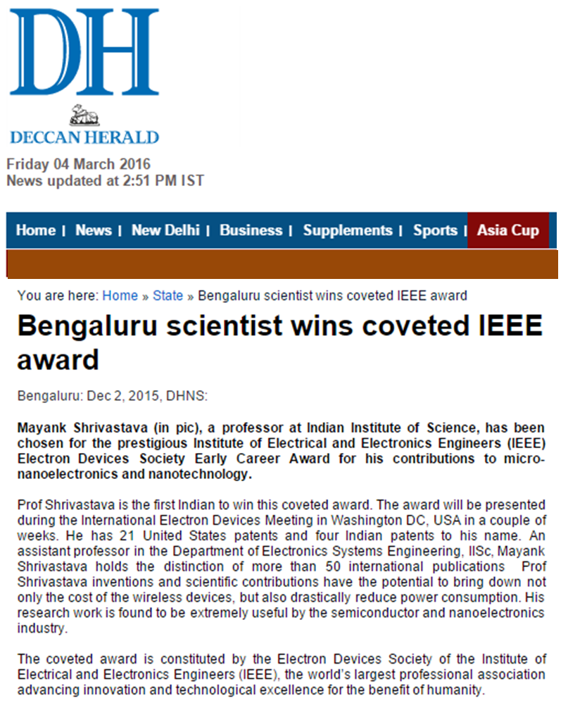 Mayanks Home Page Buy Online Lm555 Timer Ic At Low Cost In India From Dna Technology Iisc Prof Wins A Global Award Deccan Herald